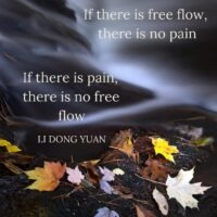 If there is free flow, there is no pain